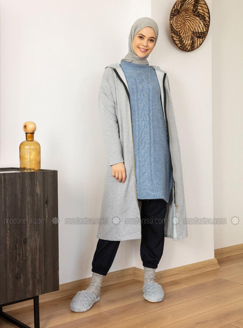 Navy Blue - Acrylic -  - Pants