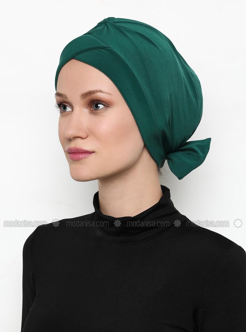 Green - Emerald - Plain - Bonnet