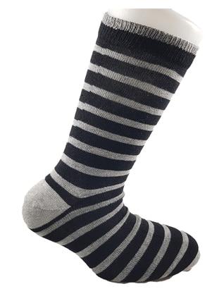 Gray - Black -  - Socks