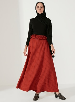 Cinnamon - Plaid - Unlined -  - Skirt