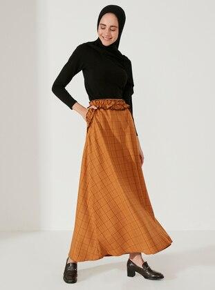 Mustard - Plaid - Unlined -  - Skirt