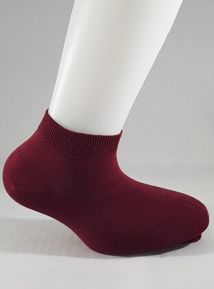 Maroon - - Socks - AKBENİZ