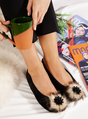 Casual - Black - Mink - Home Shoes