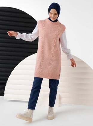 Powder - Unlined - Crew neck - Acrylic -  - Knit Sweaters - İnşirah