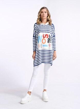 Indigo - Stripe - Knit Tunics