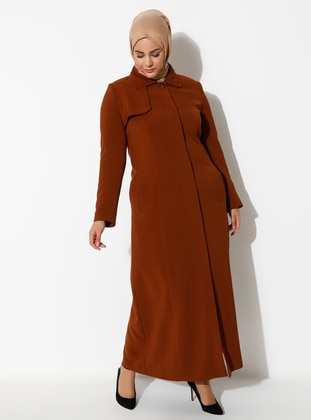 Cinnamon - Fully Lined - Plus Size Overcoat