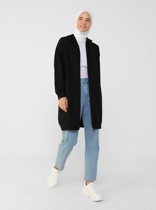 Black - Unlined - Topcoat - Everyday Basic