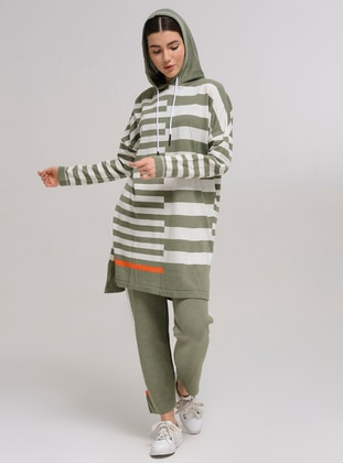 Green Almond - Stripe - Unlined - Acrylic - - Knit Suits