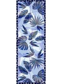 Multi - Blue - Floral - Printed - Cotton - - Shawl - Şal