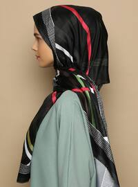 Multi - Striped - Printed - Twill - Shawl - Şal
