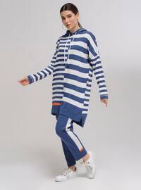 Indigo - Stripe - Unlined - Acrylic - - Knit Suits