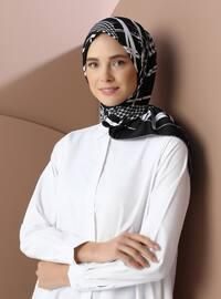 Multi - Black - Printed - Scarf - Şal