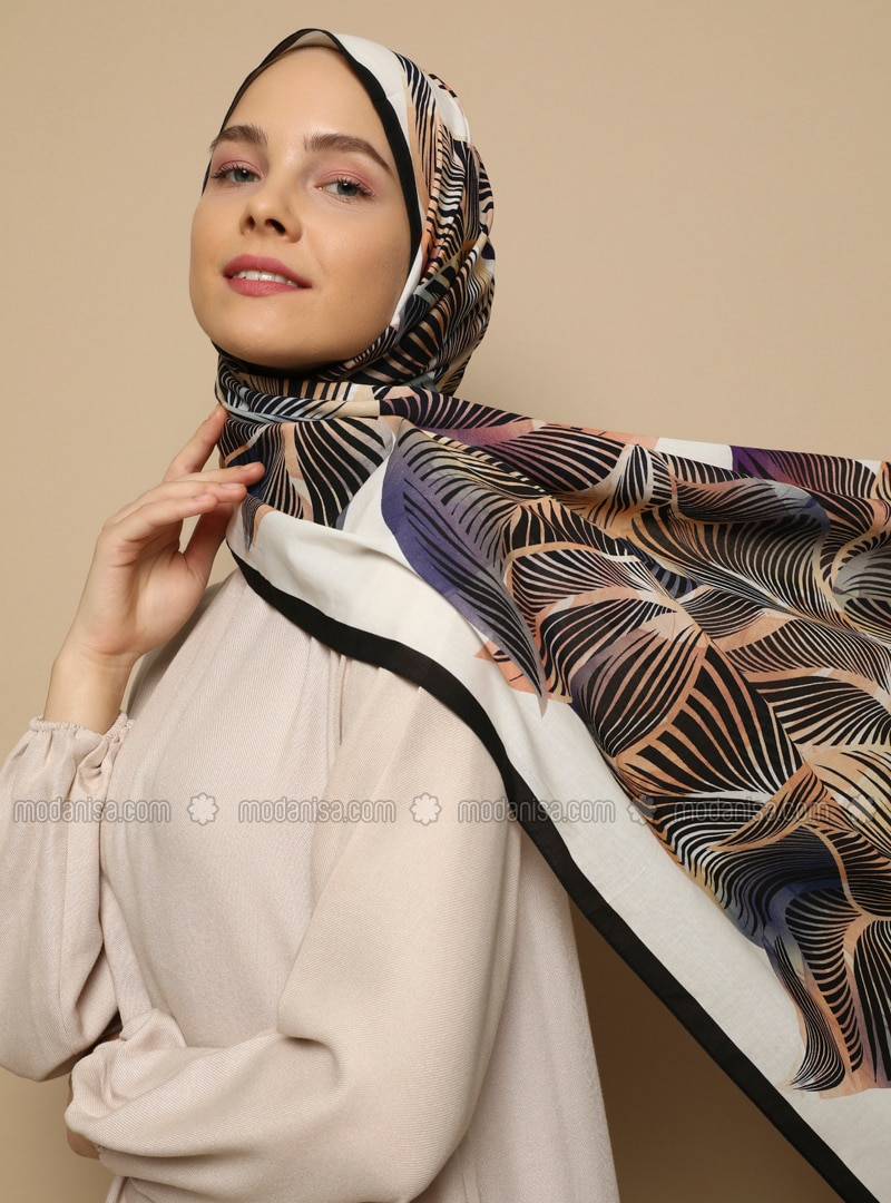 Multi - Floral - Printed - Cotton -  - Shawl