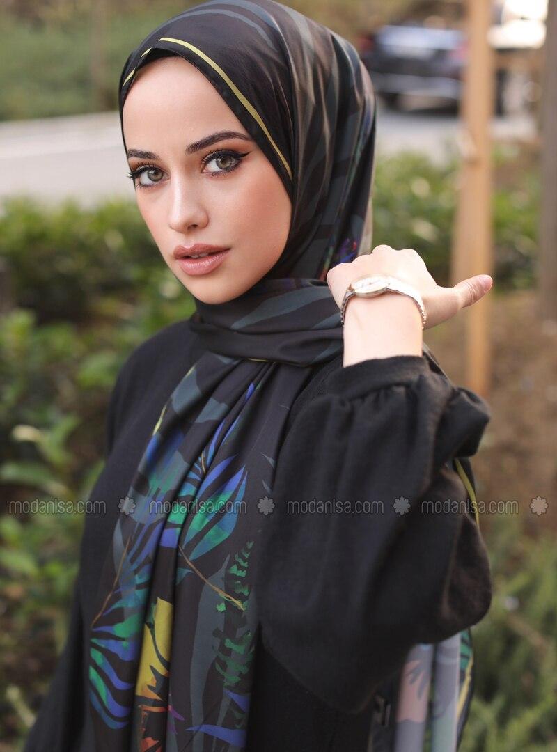 Multi - Floral - Printed - Twill - Shawl - Şal