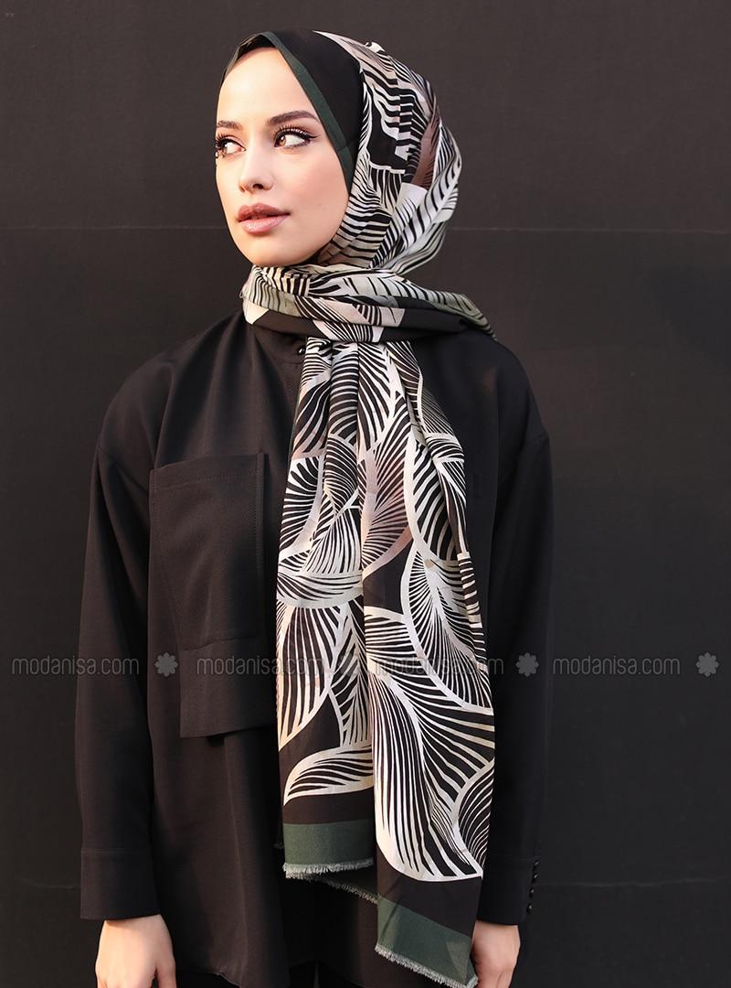 Multi - Floral - Printed - Cotton - - Shawl - Şal