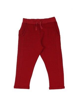 - Maroon - Boys` Sweatpants