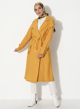 Mustard - Unlined - Point Collar - Topcoat