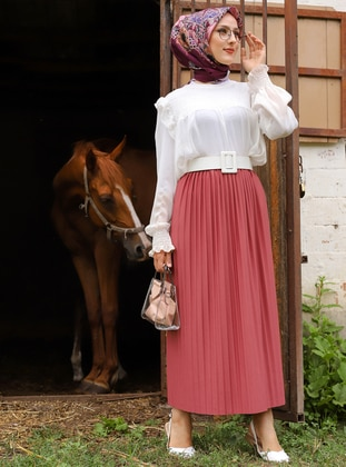 Dusty Rose - Unlined - Skirt