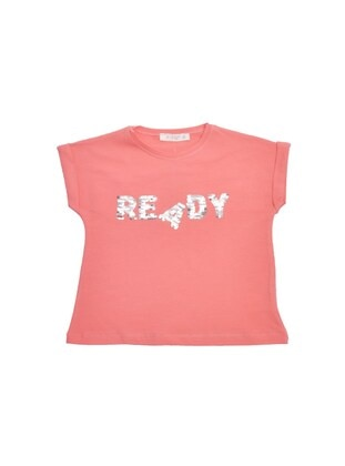 Crew neck - Terra Cotta - Girls` T-Shirt