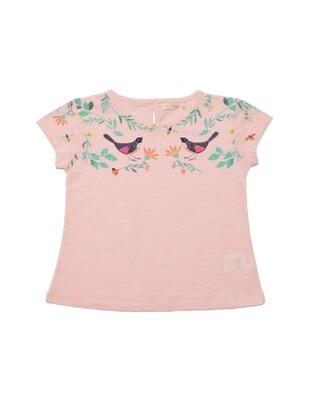 Crew neck - Powder - Girls` T-Shirt