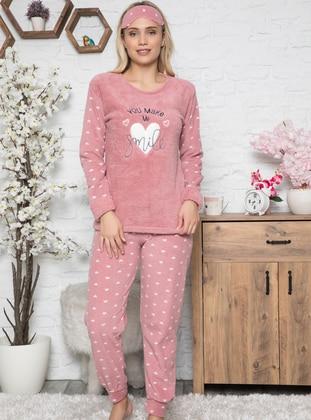 Rose - Crew neck - Multi - Pyjama Set - Fawn