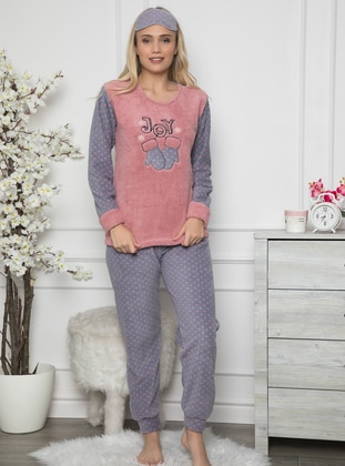 Rose - Crew neck - Multi - Pyjama Set