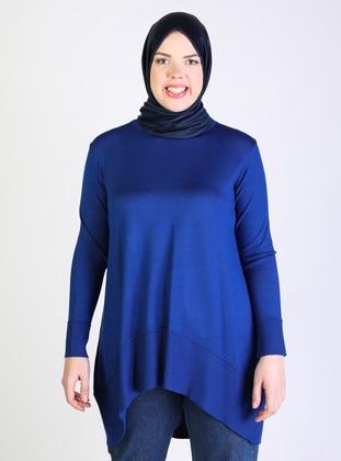 Saxe -  - Viscose - Crew neck - Plus Size Knit Tunics