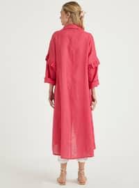 Fuchsia - Unlined - Point Collar - Linen - Topcoat