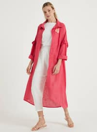 Fuchsia - Unlined - Point Collar - Linen - Topcoat
