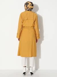 Mustard - Unlined - Point Collar - Topcoat