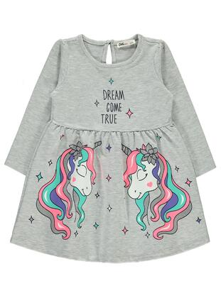 Gray - Girls` Dress - Civil