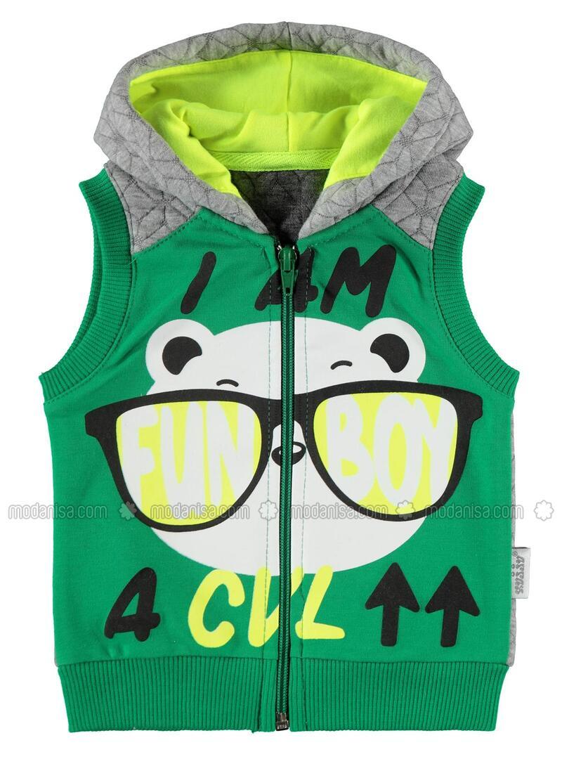 Green - Baby Vest