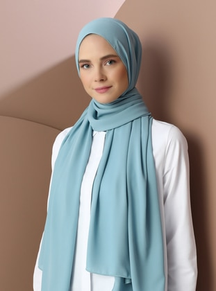 Mint - Sea-green - Plain - Shawl - Şal