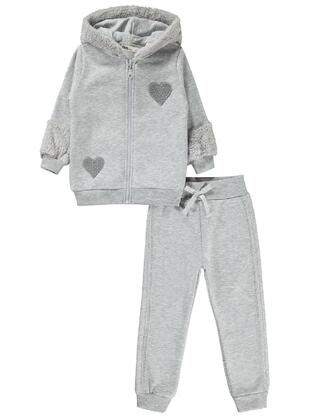 Gray - Girls` Tracksuit - Civil