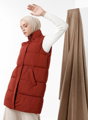 Cinnamon - Fully Lined - Polo neck - Vest