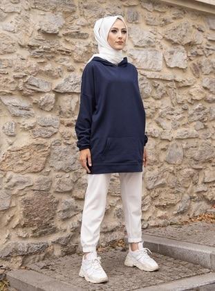 - Navy Blue - Sweat-shirt