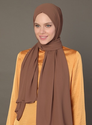 Brown - Caramel - Plain - Shawl