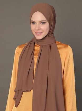 Brown - Caramel - Plain - Shawl