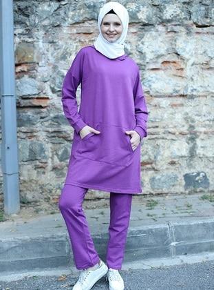 Purple - Unlined - - Suit