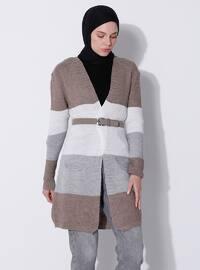 Mink - Stripe - Knit Cardigans
