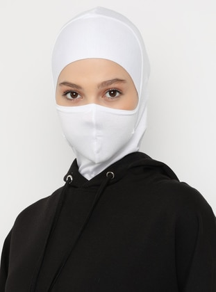 White - Plain - Simple - Viscose - Bonnet