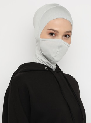 Gray - Plain - Simple - Viscose - Bonnet