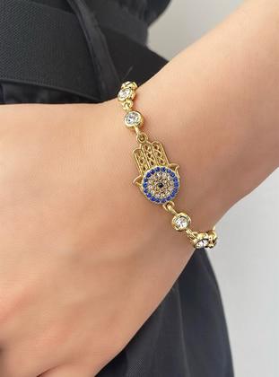 Gold - Bracelet - Takıştır Bijuteri