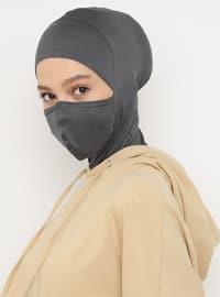 Gray - Plain - Simple - Viscose - Bonnet