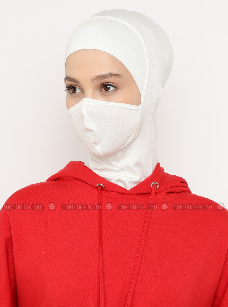 Cream - Plain - Simple - Viscose - Bonnet