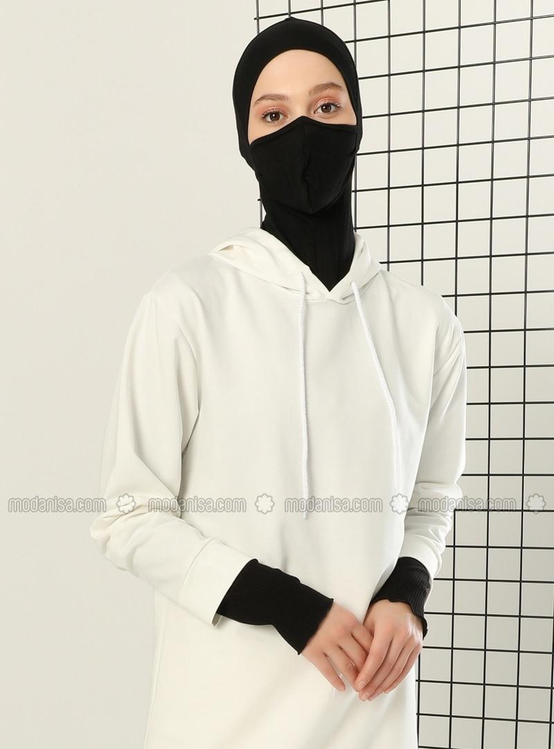 Black - Plain - Simple - Viscose - Bonnet