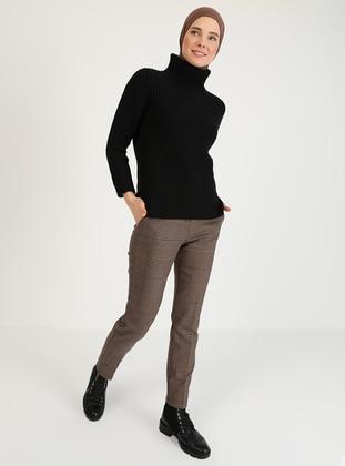 Brown - Black - Pants