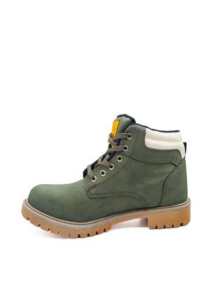 Khaki - Boot - Boots - Ayakkabı Modası