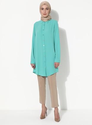 Mint - Point Collar - Tunic