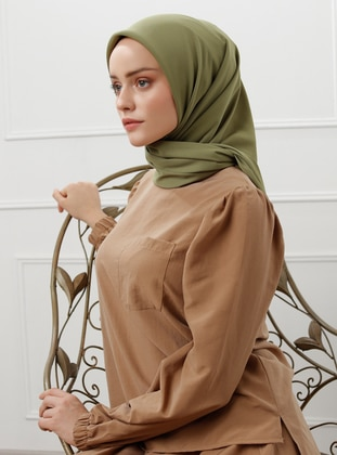 Olive Green - Plain - Scarf